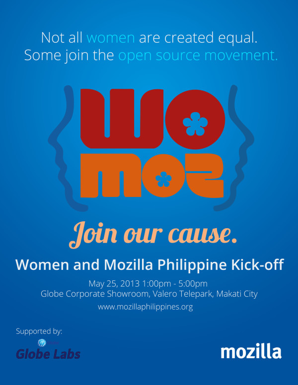WoMoz Kick-off Event Poster