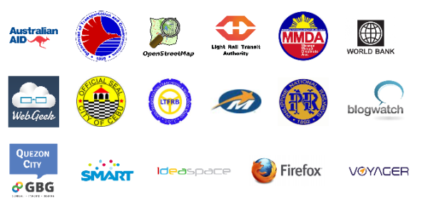Government agencies and Tech Communities supporting the Philippine Transit App Challenge