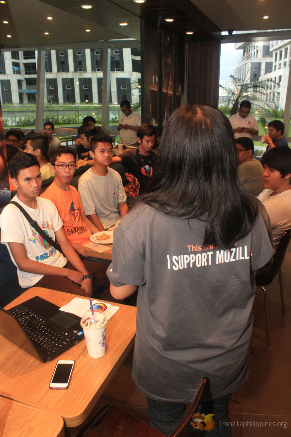 As I talked about Mozilla Support and how to be part of it.